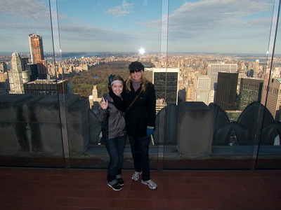 11.09.12 New York Top of the Rock Central Park in the background